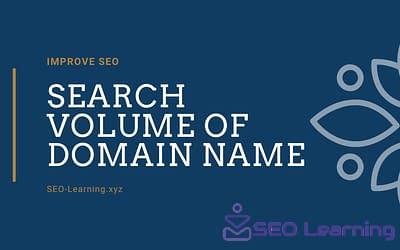 Improve SEO Search Volume of Domain Name-seo-learning.xyz