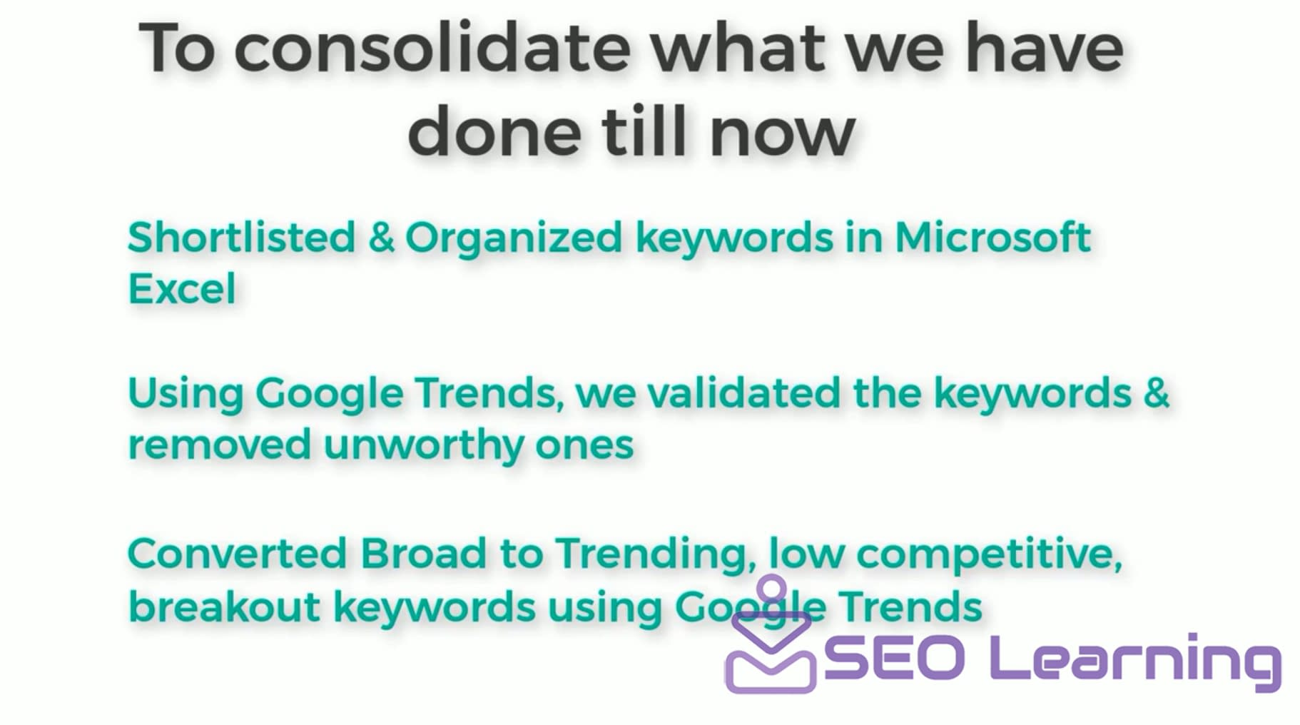 How to Validate Keywords for SEO using Google Trends